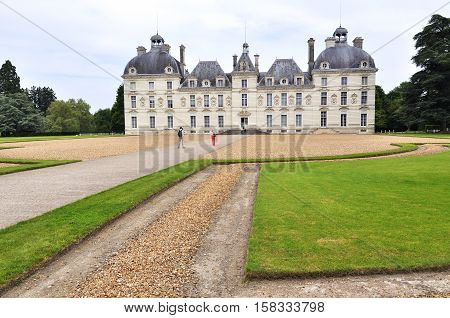 The Chateau Cheverny in France Loire Valley.