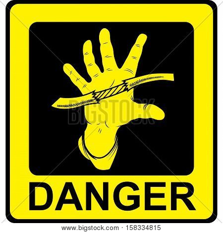 Danger Vector Sign. Danger High Voltage Isolated.
