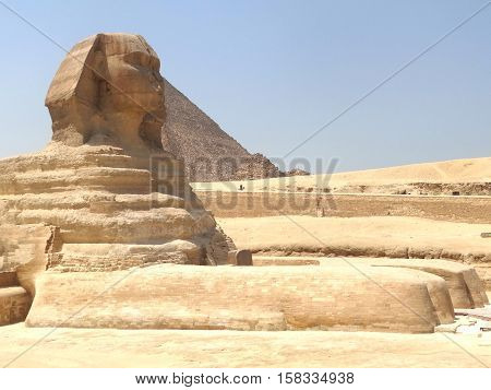 The Great Sphinx of Giza and Pyramid, 2016