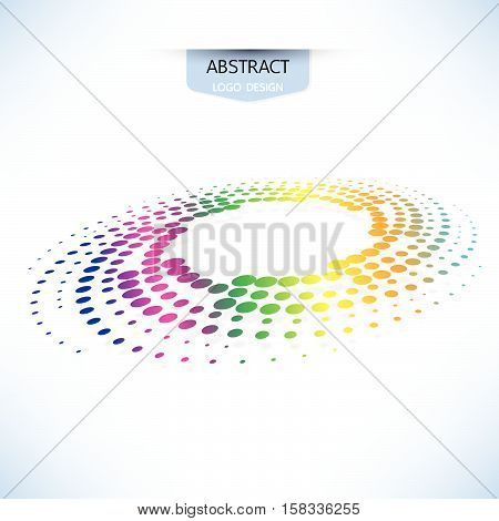Abstract Doted Logo Design Round Shape Vector