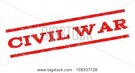 Civil War watermark stamp. Text caption between parallel lines with grunge design style. Rubber seal stamp with dust texture. Vector red color ink imprint on a white background.