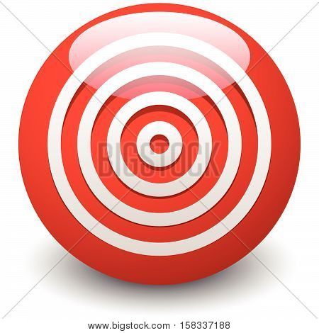 Red Target, Bullseye, Accuracy, Precision Icon - Concentric Circles
