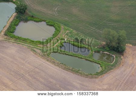 aerial view of a bavarian summer landscape