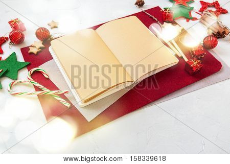 Merry Christmas Card Candy Cane Notebook Message