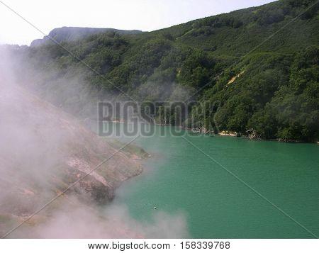 Kamchatka peninsula, the landscape. Valley of Geysers - Kamchatka, Russia
