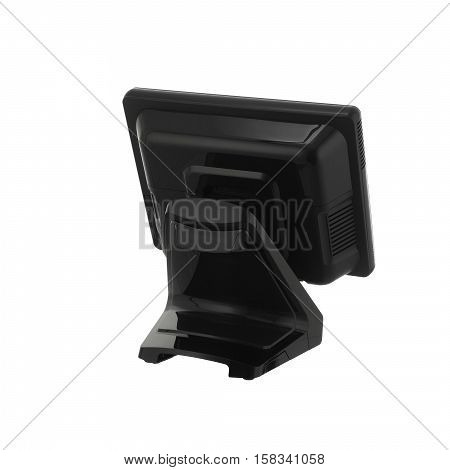 Point Of Sale System with Screen Monitor On White Background