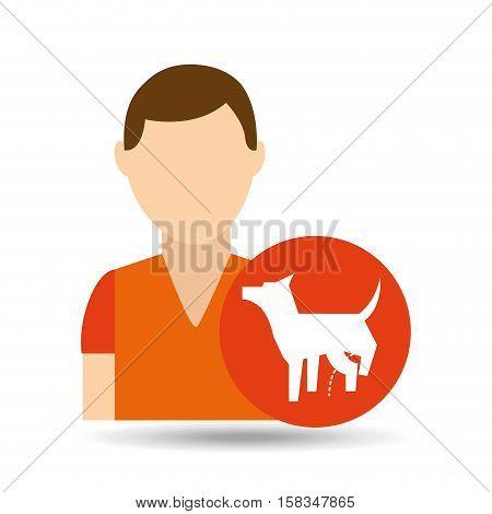 character pet training dog peeing vector illustration eps 10