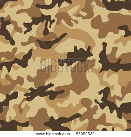 Camouflage military background seamless pattern. Vector illustration