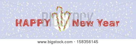 Symbol of new year. Peppermint candy canes. Color vector illustration