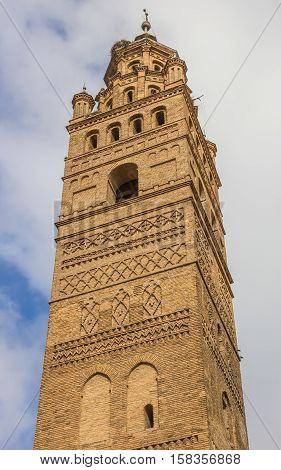 Tower Of The Huerta Cathedral In Tarazona