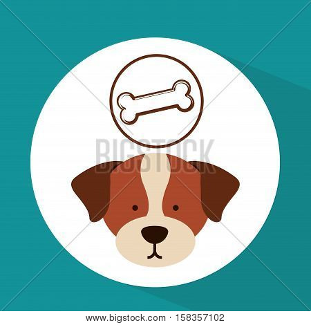 veterinary dog care bone food icon vector illustration eps 10