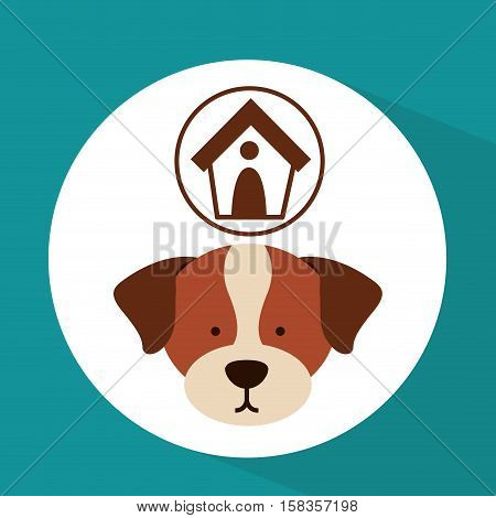 veterinary dog care house dog icon vector illustration eps 10
