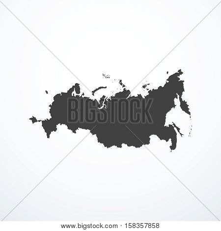 Vector Russian Federation map icon. Vector illustration
