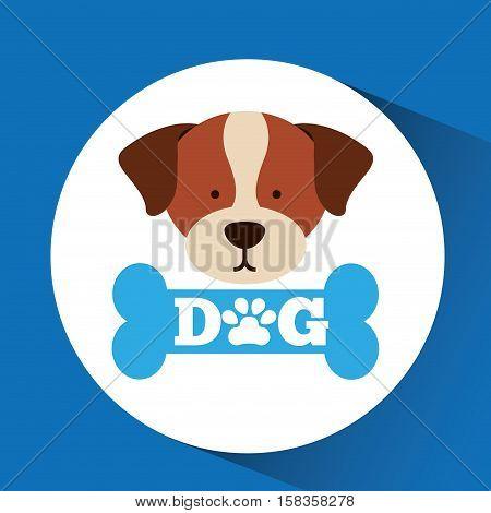 lovely head puppy st bernard dog vector illustration eps 10