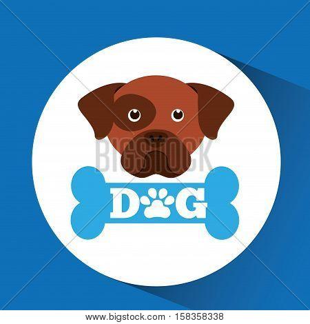 lovely head puppy dog boxer vector illustration eps 10