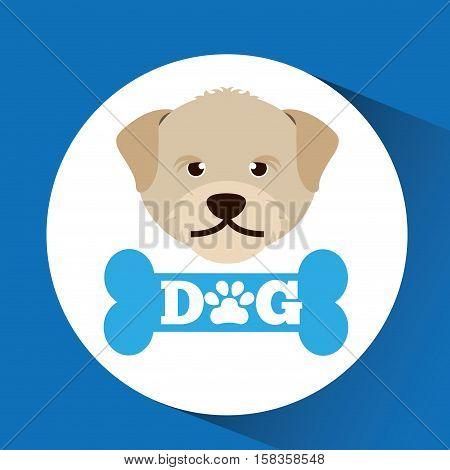 lovely head puppy dog portrait vector illustration eps 10
