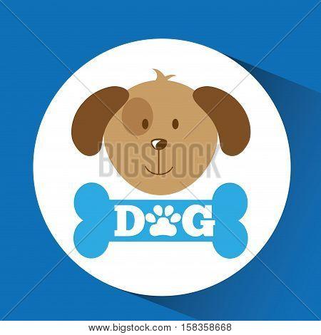 lovely head puppy dog funny vector illustration eps 10