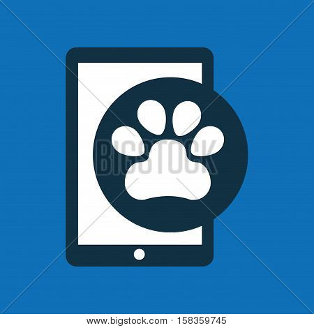 online pet shop and paw vector illustration eps 10