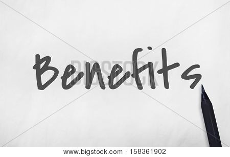 Benefits Income Compensation Advantage Assistance Concept