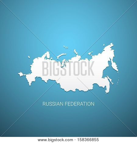 Russian Federation map. Vector illustration eps 10