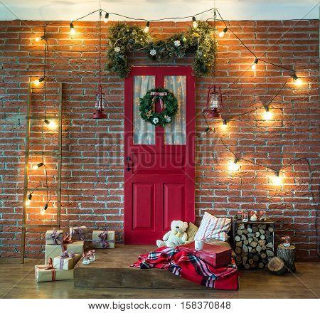 Room Christmas Tree Xmas Home Interior Decoration Toys Christmas decorations Christmas decorations photo zone