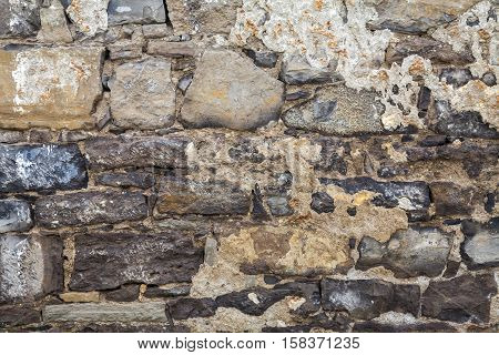The old masonry walls of the ancient fortress