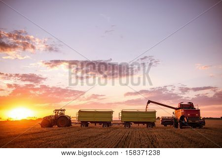 Tractor On A Countyside