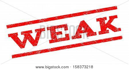 Weak watermark stamp. Text tag between parallel lines with grunge design style. Rubber seal stamp with dust texture. Vector red color ink imprint on a white background.