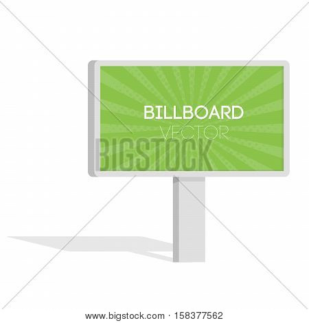 Advertise Billboards, City Light Billboard. Flat 3D Vector Illustration For Infographic