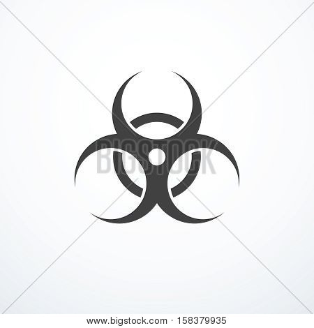 Vector biohazard symbol. Biohazard warning sign isolated.