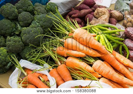 variety of vegetables selling on the streets
