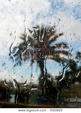 Rain Behind A Window