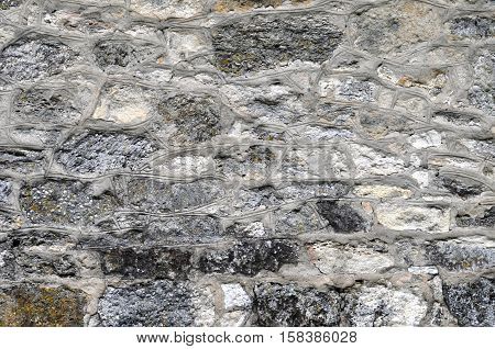 Large Gray Stone Wall for a Background