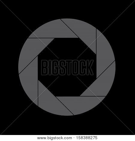 Eighty Percent Gray Shutter Icon Isolated on Black