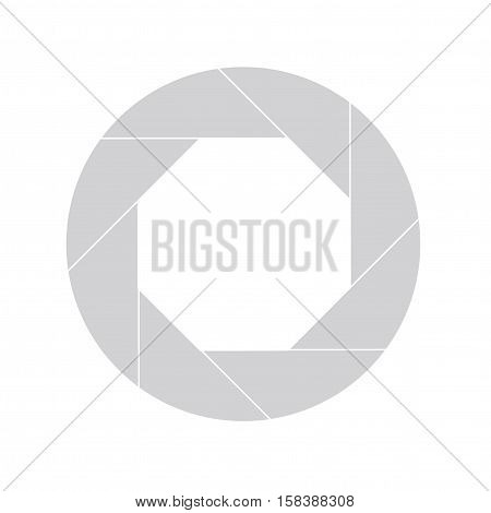 Twenty Percent Gray Shutter Icon Isolated on White