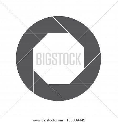 Eighty Percent Gray Shutter Icon Isolated on White
