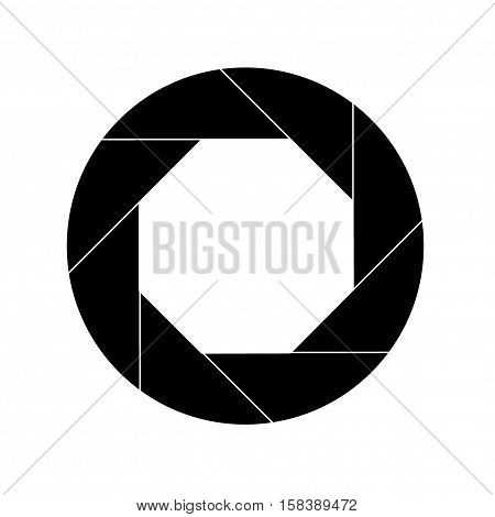 Black Shutter Vector Icon Isolated on White