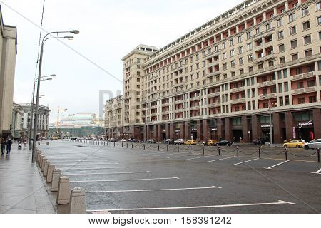 Russia, Moscow 22 May 2016, Four Seasons Hotel on the Okhotny ryad