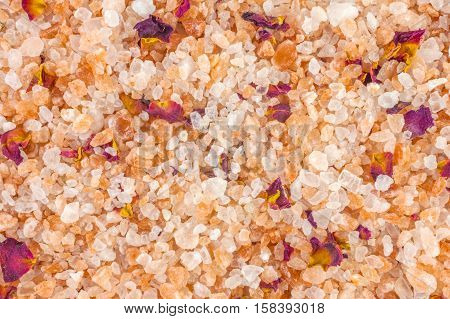 Bath salt and minerals background, for use design
