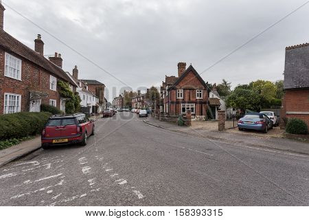 Winslow, Buckinghamshire, United Kingdom, October 25, 2016: Brick Houses And Cottages On The Horn St