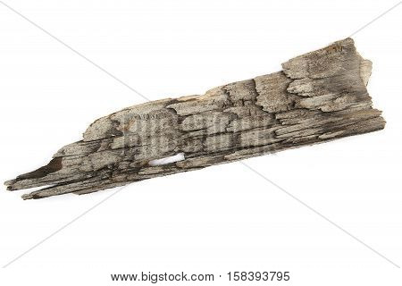 Piece of wood plate isolted on white. Texture of wood.