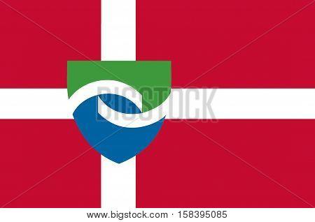 Flag of Hedensted in Central Jutland Region in Denmark