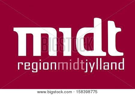 Flag of Central Jutland Region in Denmark