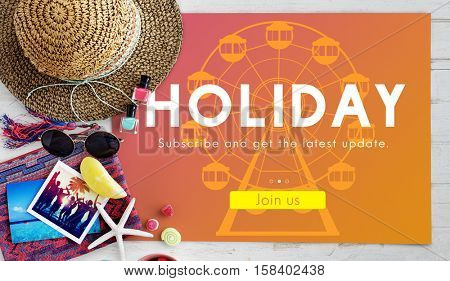 Holiday Vacation Travel Destination Graphic concept