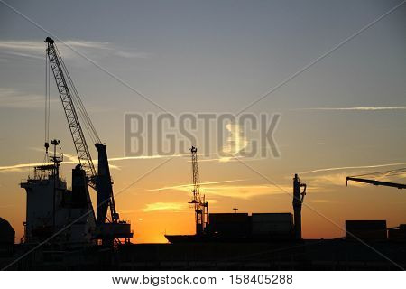 Kran, Ladung, Hafen Schiffe Industriehafen, Container, Beladung