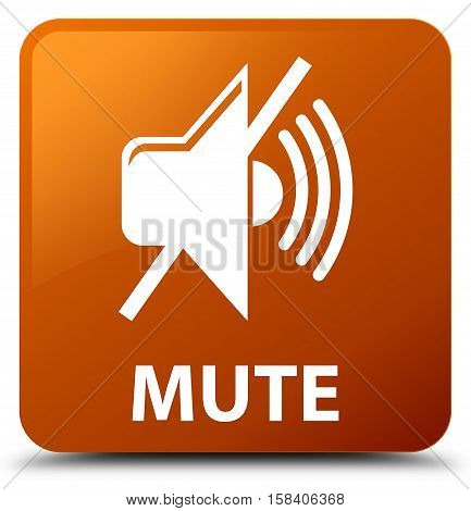 Mute (mute icon) on brown square button