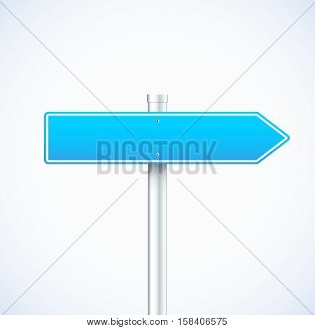 Vector blue waymark isolated. Vector illustration eps 10