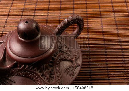 Brown Chinese Teapot