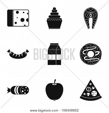 Brunch icons set. Simple illustration of 9 brunch vector icons for web