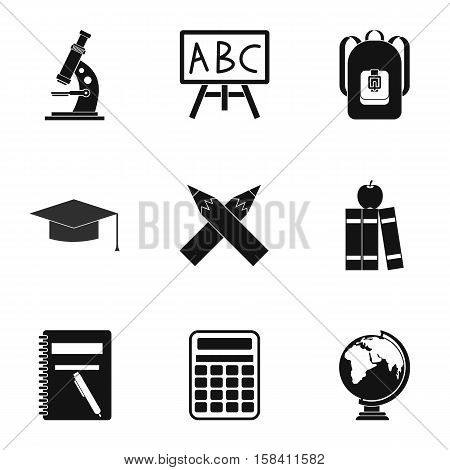 Schoolhouse icons set. Simple illustration of 9 schoolhouse vector icons for web